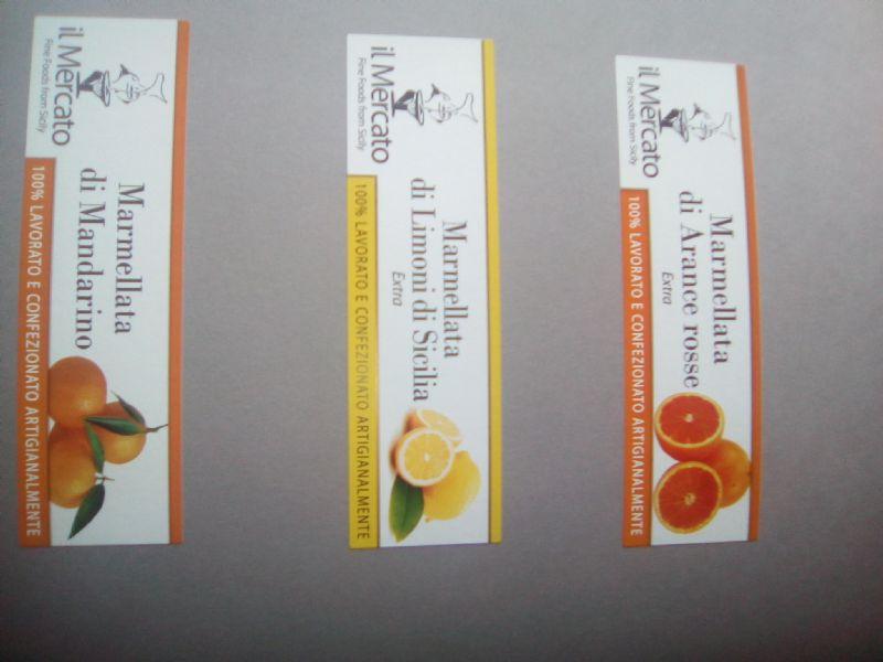 Etichette per confetture