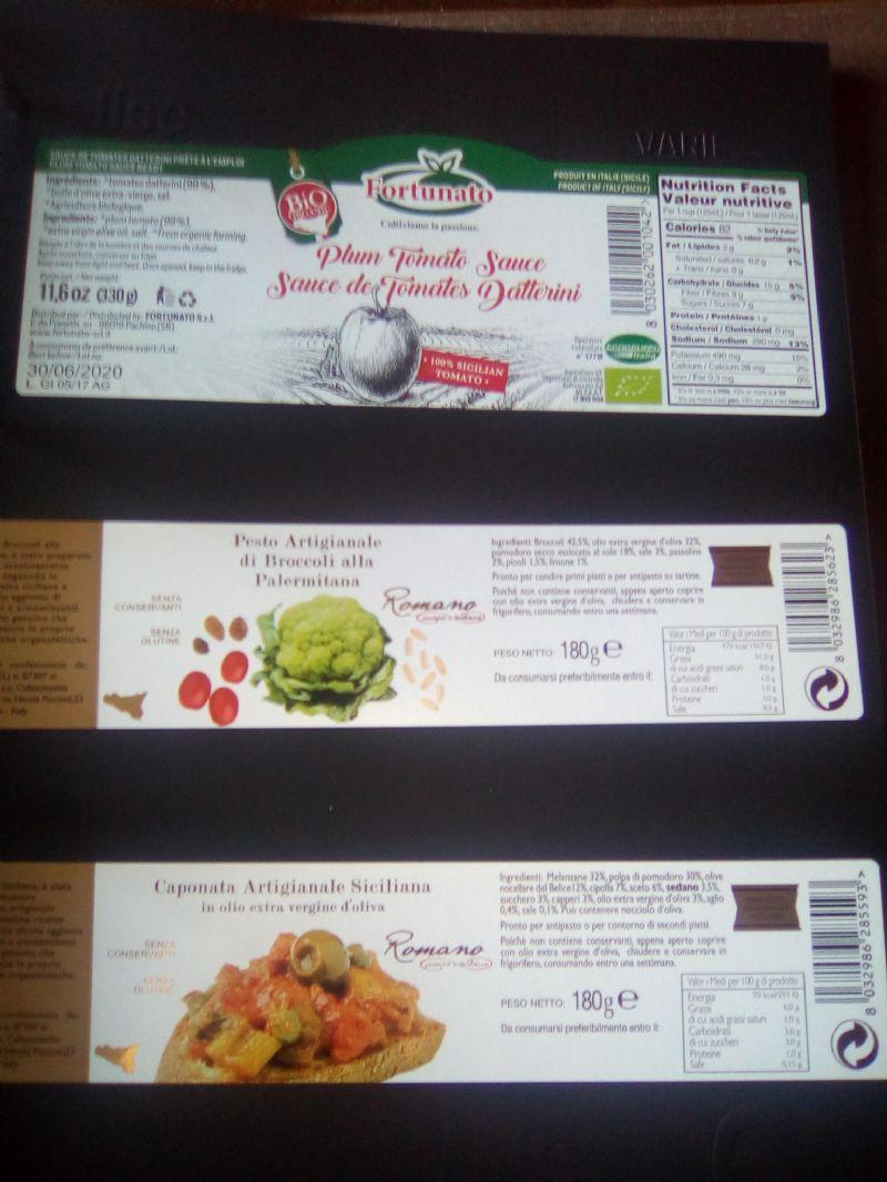Etichette per conserve alimentari