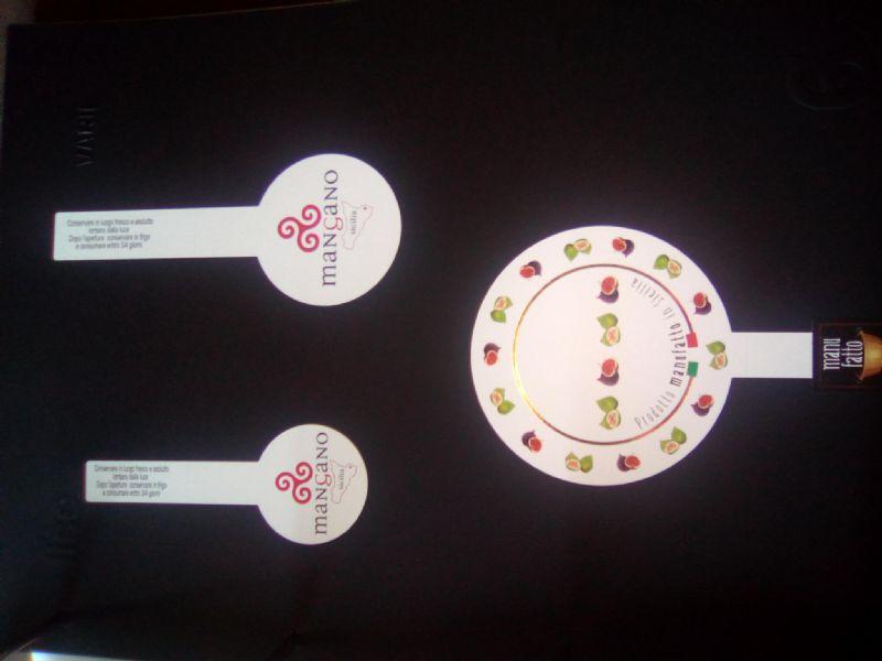 Etichette sigillo di garanzia per conserve alimentari
