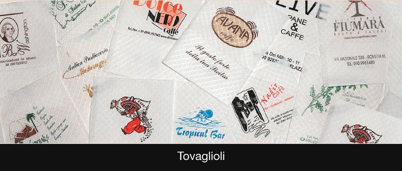 TOVAGLIOLI BAR 17X17 E 17X34 PERSONALIZZATI